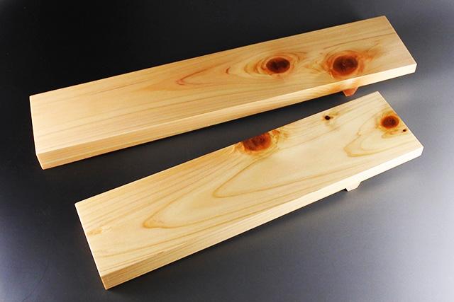 【すし・創作料理に】檜GETAロングプレート