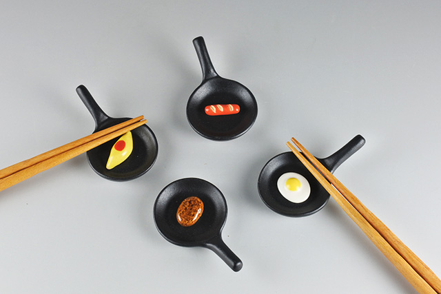 【美濃焼】箸置き フライパン